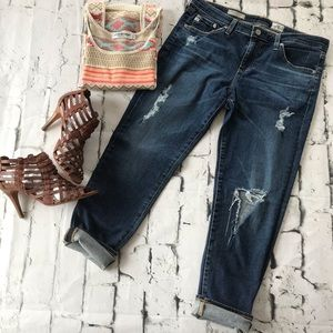 AG Adriano Goldschmied Stevie Distressed Jeans 32